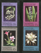 St. Vincent Grenadines 1984 Night-blooming Flowers SPECIMEN Sc 437-40 MNH # 157 - Phil India Stamps