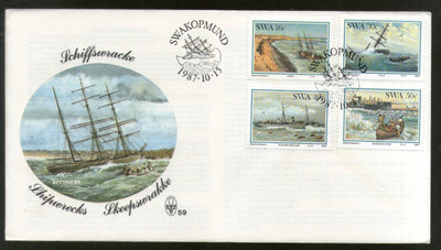 South West Africa 1987 Shipwrecks Transport Ship FDC # 16013
