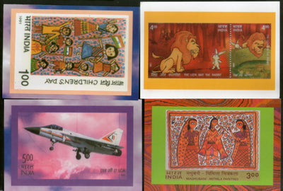 India 2003 Madhubani Children's Day Likh Florican Body Guard 6 Diff. Post Cards # 16021