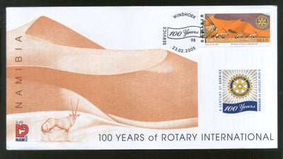 Namibia 2005 Centenary of Rotary International Wildlife Animal Desert FDC # 16039