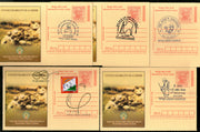 India 2018 Mahatma Gandhi Special Cancellation 5 diff Megdhoot Post Cards #16063