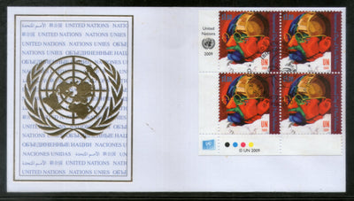 United Nations 2009 Mahatma Gandhi of India Non-Violence BLK/4 FDC RARE # 16180