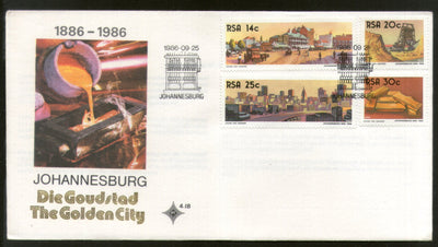 South Africa 1986 Johannesburg Golden City Gold Mine Minerals FDC # 16271
