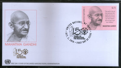 United Nations 2019 Mahatma Gandhi of India 150th Birth Anniversary 1v FDC # 16317