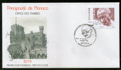Monaco 2019 Mahatma Gandhi of India 150th Birth Anniversary 1v FDC # 16349