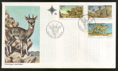 South West Africa 1976 Nature Protection Wildlife Animal Deer Squirrel FDC # 16365