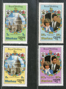 Bhutan 1981 Royal Wedding Princess Diana & Charles Paul Church Sc317-20 MNH # 1639