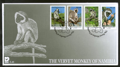 Namibia 2004 Vervet Monkey Wildlife Animal Mammal Fauna Fruit 4v FDC # 16430
