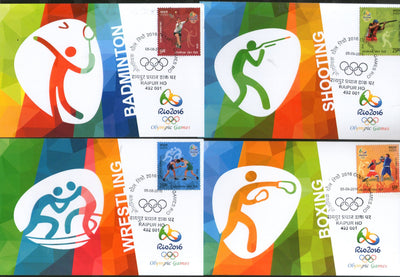 India 2016 Rio Olympic Games Brazil Shooting Boxing Wrestling Max Cards # 16434