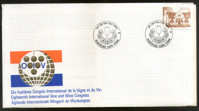 South Africa 1983 Int'al Vine & Wine Congress Grapes Fruits Glasses Cover # 16511