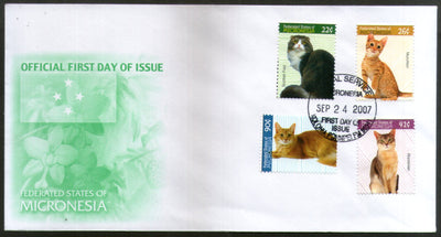 Micronesia 2007 Domestic Cats Pet Animals Sc 751-54 4v FDC # 16515
