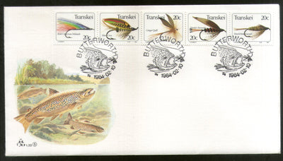 Transkei 1984 Dragonflies Insect Fishing Files Boat Marine Life Fish Animal FDC # 16523
