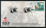 South Africa 1994 Int'al Congress on Large Dams Architecture Stamp Card # 16527