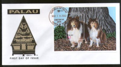Palau 2002 Breeds of Dogs Pet Animals Fauna Sc 683 M/s FDC # 16529