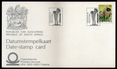 South Africa 1978 Succulent Plant Tree Coat of Arms Date Stamp Card # 16536