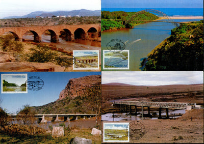Transkei 1985 Bridges Architecture River Mountain Sc 159-62 Max Cards # 16539