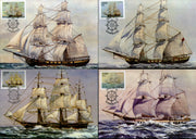 Ciskei 1985 Troop Sailing Ships Transport Sc 85-88 Max Cards # 16543