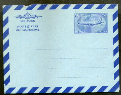 India 1968 25p Aerogramme Air Letter Jain-ALS49 Postal Stationery Folded # 16547