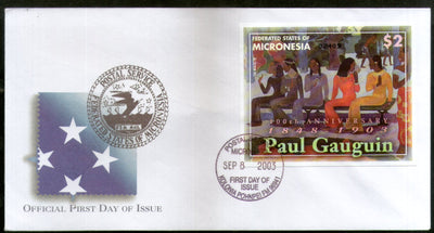 Micronesia 2003 Paul Gauguin Paintings Art Sc 558 M/s FDC # 16563