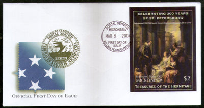 Micronesia 2004 St. Petersburg Museum Paintings Art Sc 585 M/s FDC # 16569