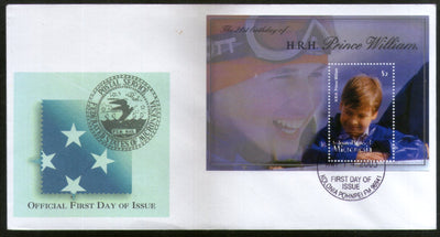 Micronesia 2003 Prince William Birthday Royal Family Sc 544 M/s FDC # 16575