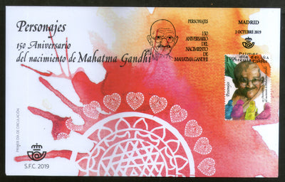 Spain 2019 Mahatma Gandhi of India 150th Birth Anniversary 1v FDC # 16586