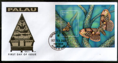 Palau 2001 Owl Butterfly Moths Insect Wildlife Animal Fauna Sc 623 M/s FDC # 16607