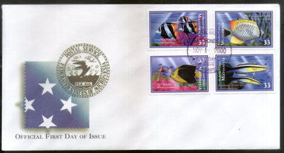 Micronesia 2000 Coral Reef Fishes Marine Life Animals Sc 395-98 FDC # 16608