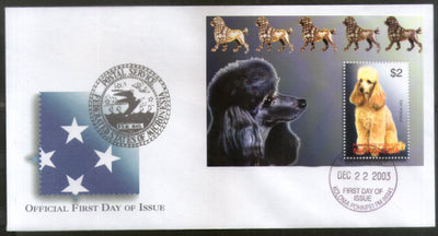 Micronesia 2003 Breeds of Dogs Pet Animals Fauna Sc 575 M/s FDC # 16610