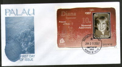 Palau 2007 Princess Diana Spencer Royal Family Sc 896 M/s FDC # 16611