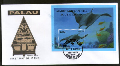 Palau 2000 Mantra Ray Fishes Marine Life Animals Sc 567 M/s FDC # 16613