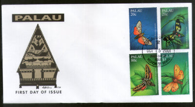 Palau 2001 Butterfly Moths Insect Wildlife Animal Fauna Sc 616-19 FDC # 16615