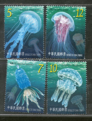 Taiwan 2015 Jellyfish Fishes Marine Life Animal Sc 4214-17 MNH # 1662
