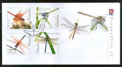 Namibia 2007 Dragonflies Insect Animals 4v FDC # 16633