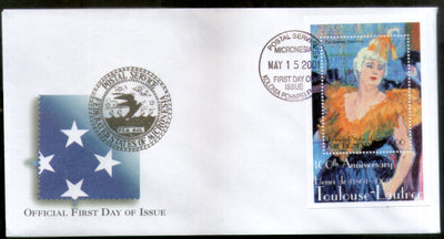 Micronesia 2001 Paintings by Toulouse Lautrec Art Sc 440 M/s FDC # 16846