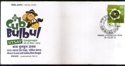 India 2013 Cub Bulbul Bharat Scout & Guides Special Cover # 16854