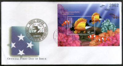 Micronesia 2000 Coral Butterfly Fishes Marine Life Animals Sc 401 M/s FDC # 16857
