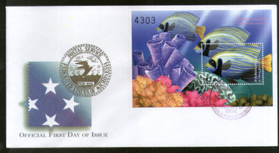 Micronesia 2000 Coral Angel Fishes Marine Life Animals Sc 402 M/s FDC # 16860