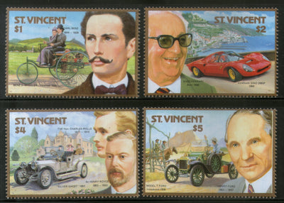 St. Vincent 1987 Automobile Centenary Car Sc 1044-47 MNH # 172
