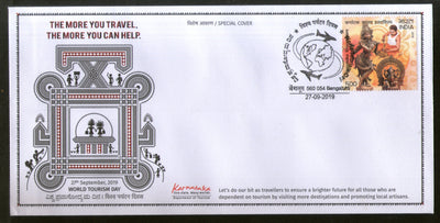 India 2019 World Tourism Day Special Cover # 18035