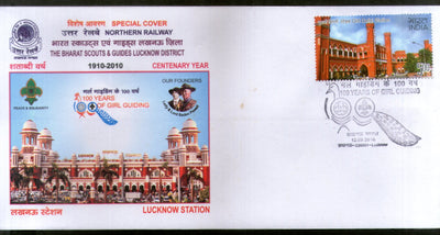 India 2010 Scout & Girl Guide Lady & Lord Baden Powell Peacock Special Cover # 18131