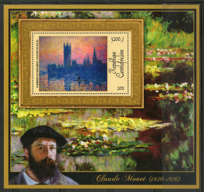Central African Republic 2011 Painting by Claude Monet Sc 1669 M/s MNH # 19011 - Phil India Stamps