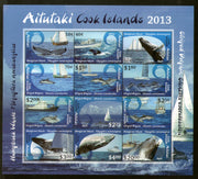 Aitutaki 2013 Whales Dolphins & Ships Marine Life Sc 612 Sheetlet MNH # 19018 - Phil India Stamps