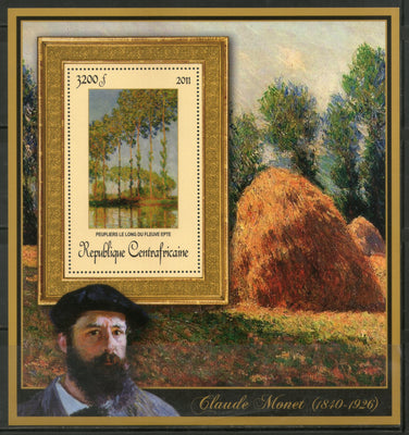Central African Republic 2011 Painting by Claude Monet Art Sc 1660 M/s MNH # 19023 - Phil India Stamps