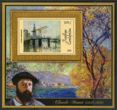 Central African Republic 2011 Painting by Claude Monet BridgeSc 1668 M/s MNH # 19024 - Phil India Stamps
