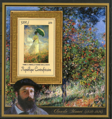 Central African Republic 2011 Painting by Claude Monet Lady Sc 1664 M/s MNH # 19025 - Phil India Stamps