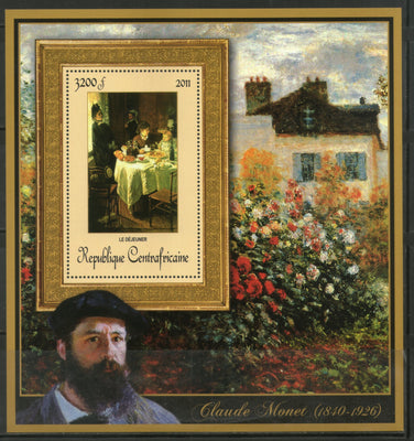 Central African Republic 2011 Painting by Claude Monet Art Sc 1666 M/s MNH # 19026 - Phil India Stamps