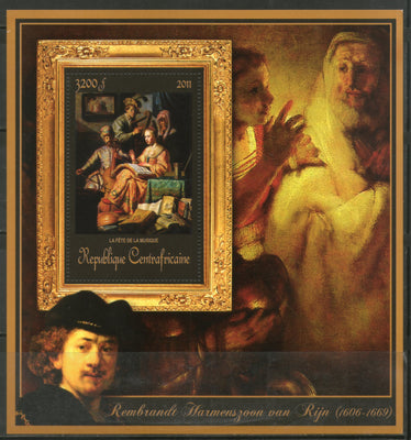Central African Republic 2011 Religious Painting by Rembrandt Art Sc 1757 M/s MNH # 19043 - Phil India Stamps