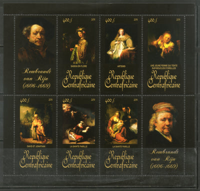 Central African Republic 2011 Religious Painting by Rembrandt Art Sc 1746 M/s MNH # 19044 - Phil India Stamps