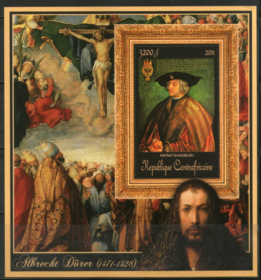 Central African Republic 2011 Religious Painting by Albrecht Durer Sc 1676 M/s MNH # 19054 - Phil India Stamps